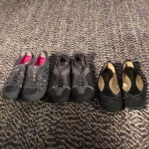 Sperry black loafers, memory foam, sketchers (315)